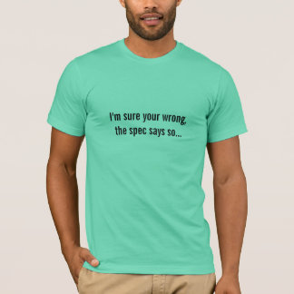Camiseta as especs. dizem assim…