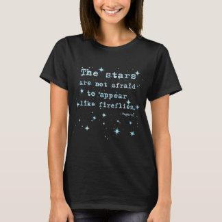Camiseta As estrelas não estão receosas - Tagore