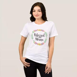 Camiseta As flores florais coloridas abençoaram o Mama -