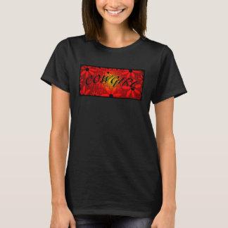 Camiseta As flores vermelhas do Sunburst da vaqueira