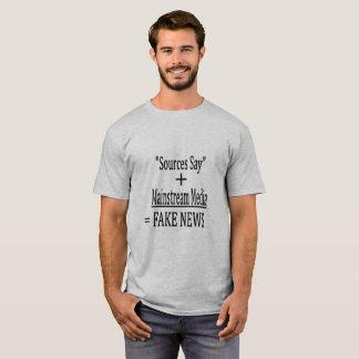 """Camiseta As """"fontes dizem"""" + Meios do grosso da população ="""
