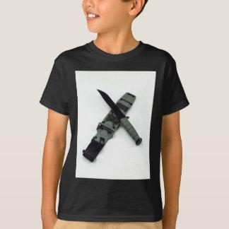 Camiseta as forças armadas combatem um estilo transversal