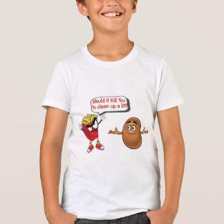 Camiseta as fritadas que dizem a batata crua limpam miúdos