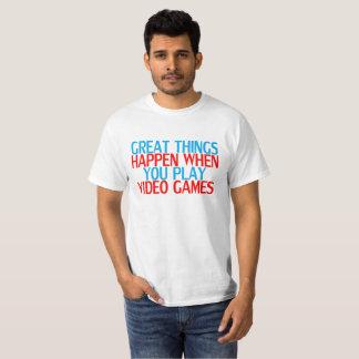 Camiseta As grandes coisas do t-shirt engraçado do video
