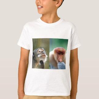 Camiseta As grandes mentes pensam macacos de proboscis
