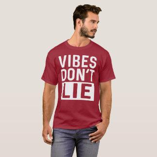 Camiseta As impressões não se encontram flertar cómico