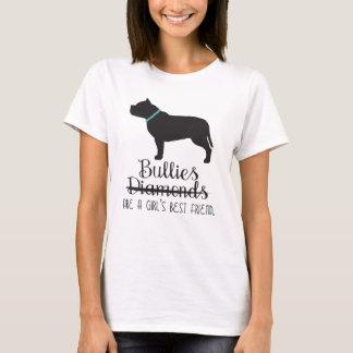 Camiseta As intimidações são o t-shirt das mulheres do