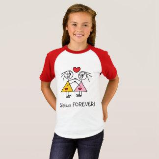 Camiseta As irmãs bonitos colam PARA SEMPRE a figura