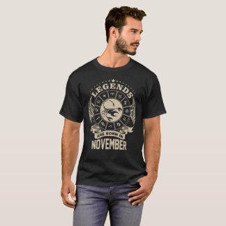 Camiseta As legendas da Escorpião são t-shirt nascido do