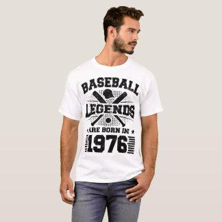 Camiseta as legendas do basebol são nascidas em 1976
