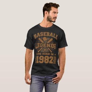Camiseta as legendas do basebol são nascidas em 1982