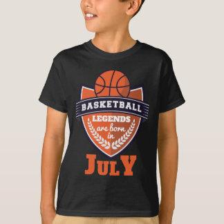 Camiseta As legendas do basquetebol são nascidas em julho