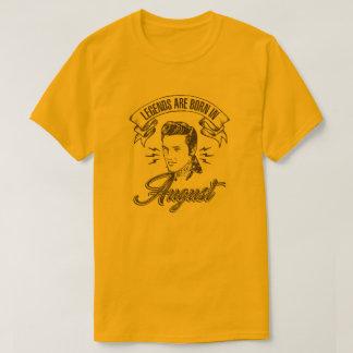 Camiseta As legendas são nascidas em agosto