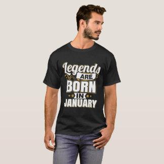 Camiseta As legendas são nascidas em janeiro