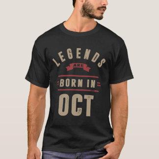 Camiseta As legendas são nascidas em outubro