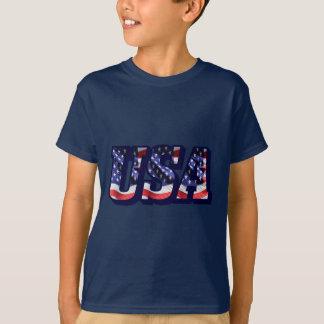 Camiseta As letras da bandeira dos EUA, bandeira caçoam o
