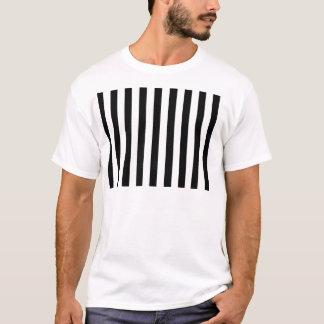 Camiseta As listras clássicas preto e branco listraram o