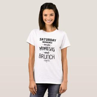 Camiseta As manhãs de sábado são para Mimosas e refeição