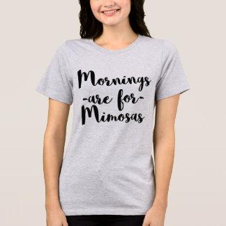 Camiseta As manhãs do t-shirt de Tumblr são para Mimosas