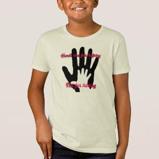 Camiseta As mãos são ajudando