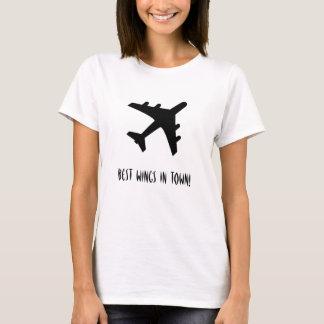 Camiseta As melhores asas na cidade! Aviação