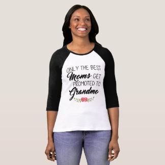 Camiseta As melhores mães promovidas à avó