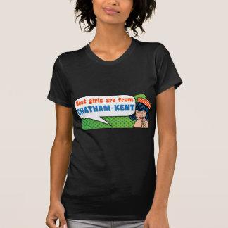Camiseta As melhores meninas são de Chatham-Kent