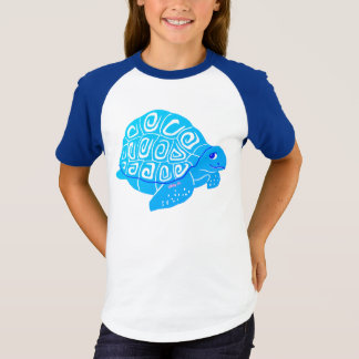 Camiseta As meninas azuis da tartaruga de mar Short o