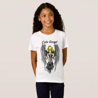 Camiseta As meninas bonitos do anjo multam o t-shirt do