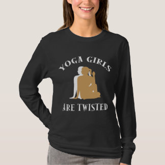 Camiseta As meninas da ioga são o t-shirt escuro das