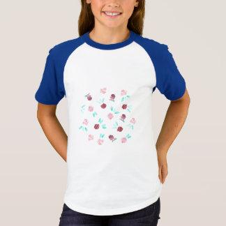 Camiseta As meninas de flores do trevo Short o t-shirt do