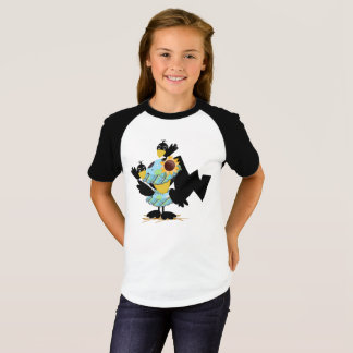 Camiseta As meninas de W do monograma Short o t-shirt do