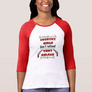 Camiseta As meninas do país não recuam, elas recarregam (as