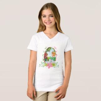 Camiseta As meninas do rei e da rainha multam o t-shirt do