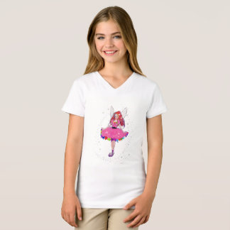 Camiseta As meninas do rubi multam o t-shirt do V-Pescoço