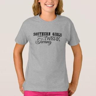 Camiseta As meninas do sul não fazem Twerk, nós Twang