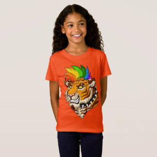 Camiseta As meninas do tigre do punk/Mohawk multam o