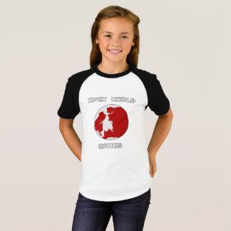 Camiseta As meninas dos jogos Short o t-shirt do Raglan da
