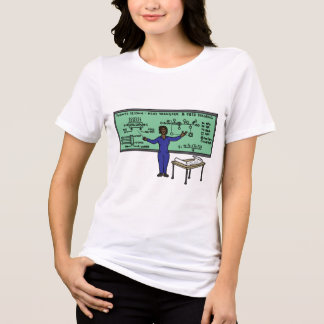 Camiseta As meninas educadas ordenam o mundo da engenharia