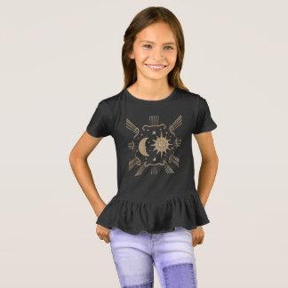 Camiseta As meninas expor ao sol e moon, projeto espiritual
