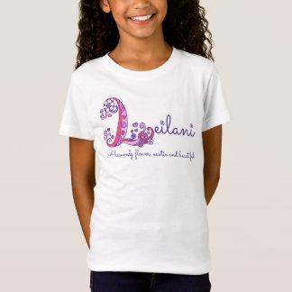Camiseta As meninas L monograma conhecido de Leilani do