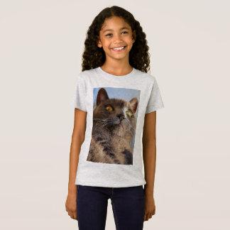 Camiseta As meninas legal do gatinho multam o t-shirt do