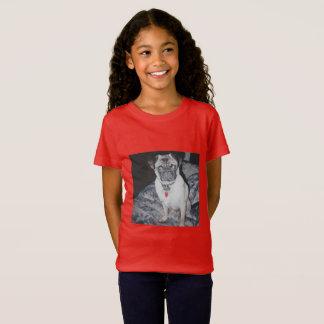 Camiseta As meninas multam o t-shirt do PUG do jérsei