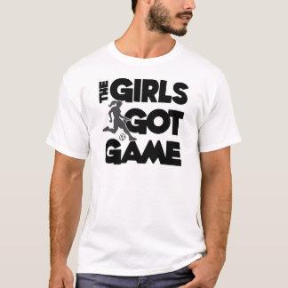 Camiseta As meninas obtiveram o jogo, preto