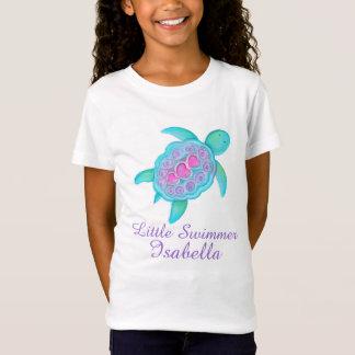 Camiseta As meninas pequenas bonitos do nadador picam o