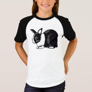 Camiseta As meninas pretas & brancas do coelho Short o