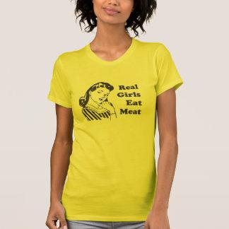 Camiseta As meninas reais comem a carne