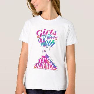 Camiseta As meninas são boas na matemática, ele são ciência