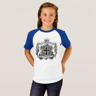 Camiseta As meninas Short o t-shirt do Raglan da luva