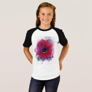 Camiseta As meninas vermelhas da papoila Short o t-shirt #1